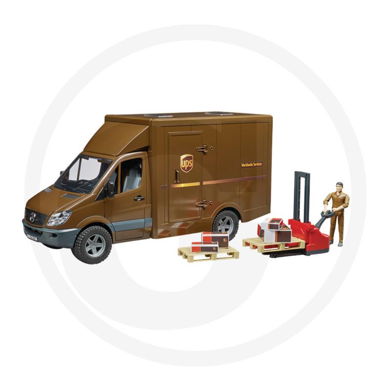 Bruder MB vůz UPS s řidičem a příslušentvím