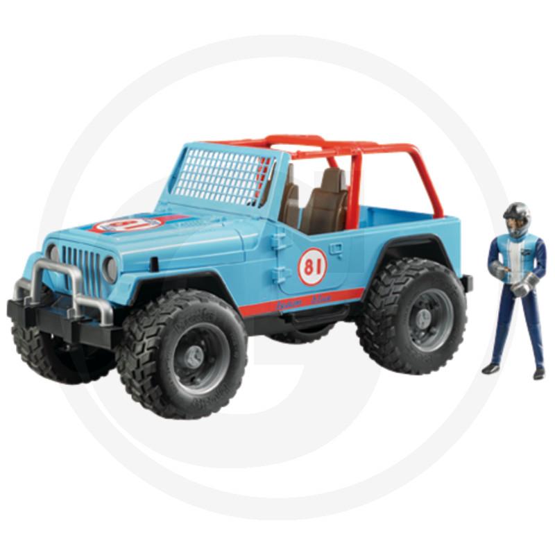 Bruder Jeep Cross Country Racer modrý s řidičem