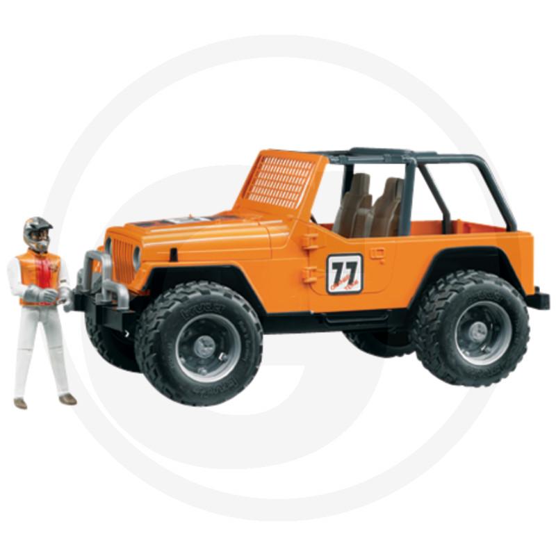 Bruder Jeep Cross Country Racer oranžový s řidičkou Karolínou