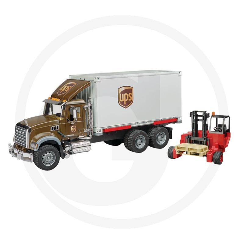 Bruder MACK Granit UPS vůz-LKW se zvedákem