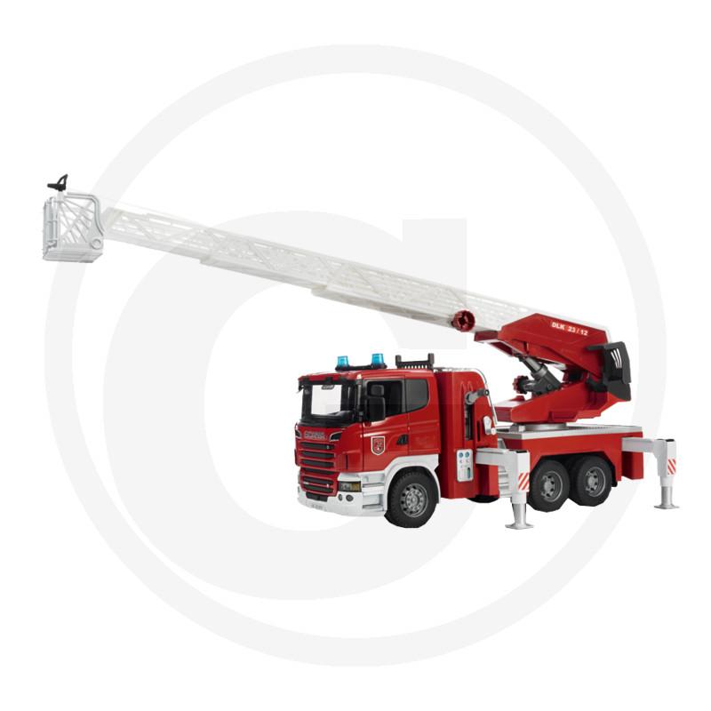 Bruder Scania R požární auto s žebříkem