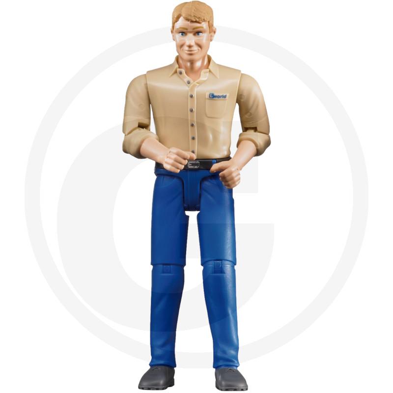 Bruder Muž se světlým typem kůže a modrými kalhotami
