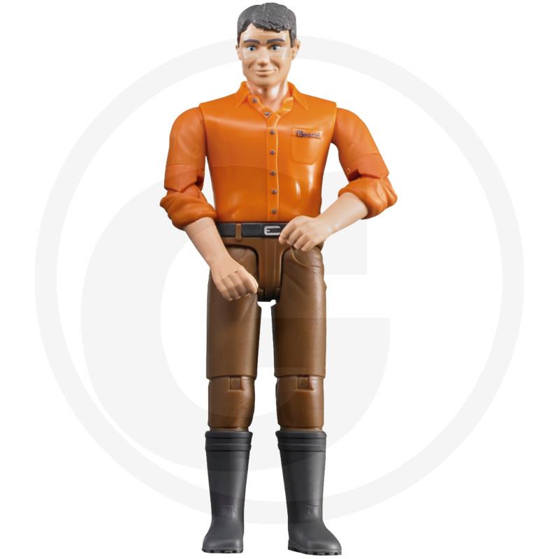 Bruder Muž se světlým typem kůže a hnědými kalhotami