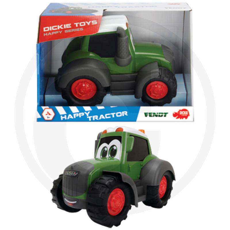 Traktor Dickie Happy, volné otáčení, 25 cm, zelený
