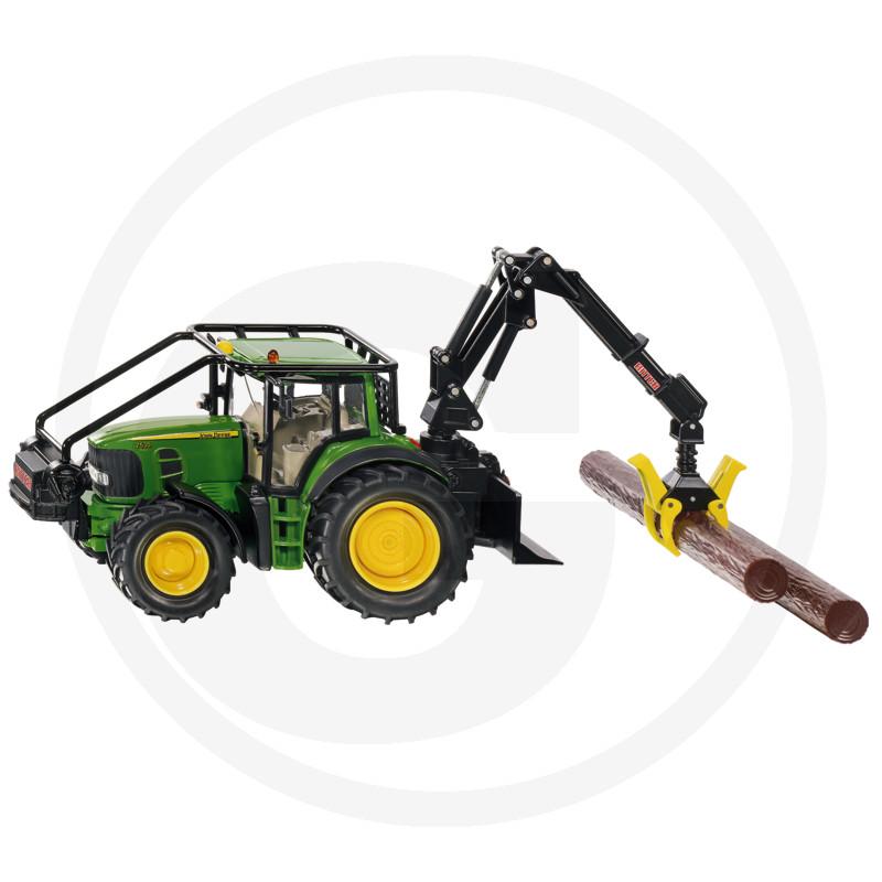 Siku John Deere lesnický traktor