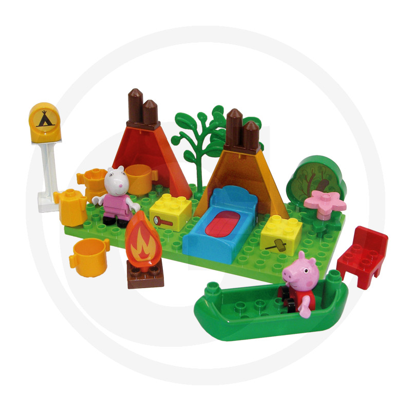BIG BLOXX prasátko Peppa Camping Set
