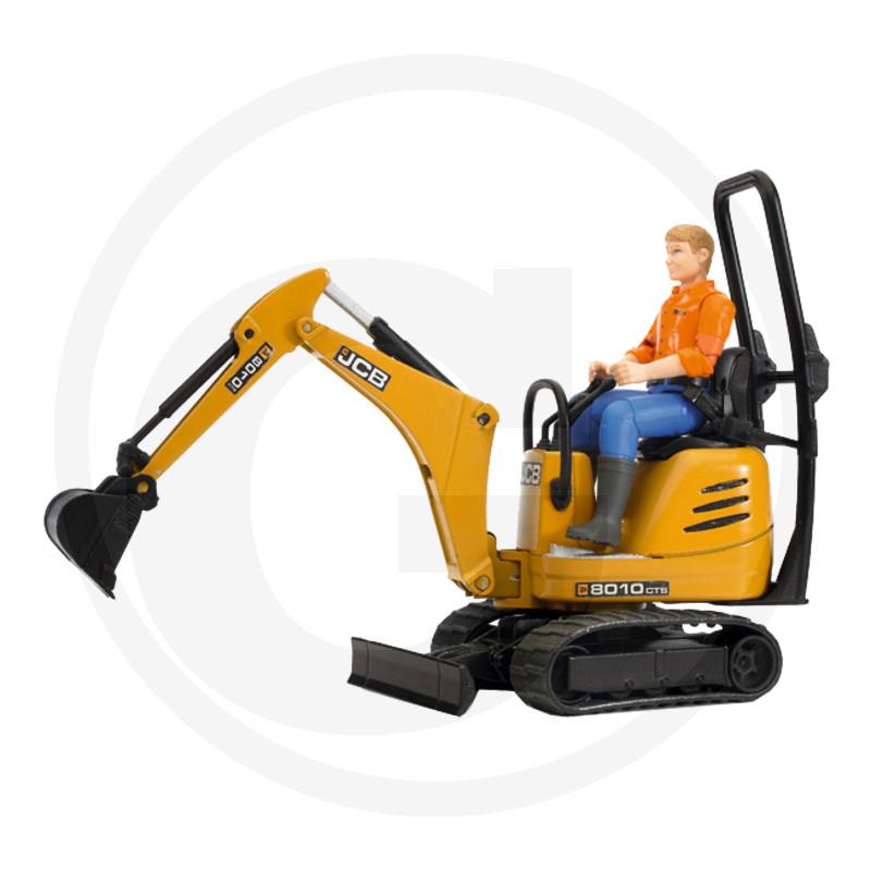 Bruder JCB Mikrobagr 8010 CTS + stavební dělník