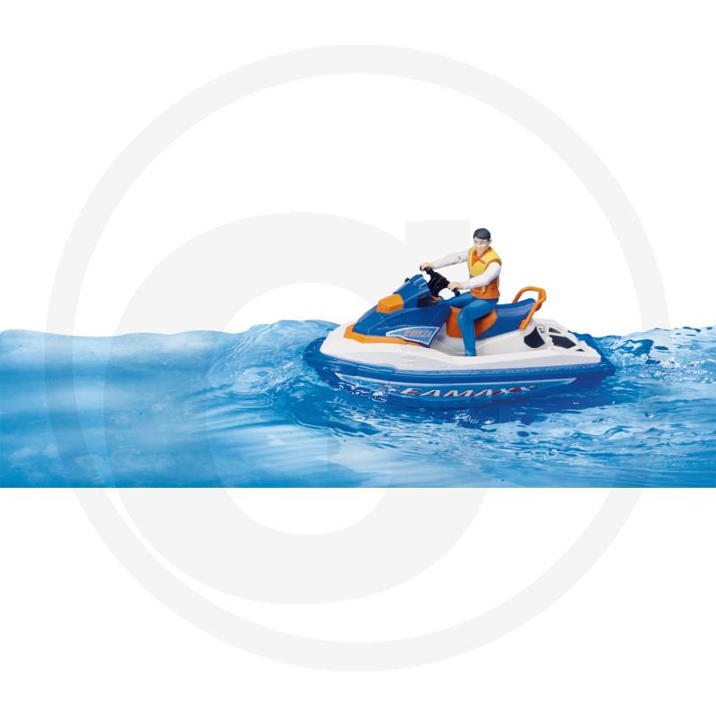 Bruder 63150 Vodní skútr s řidičem