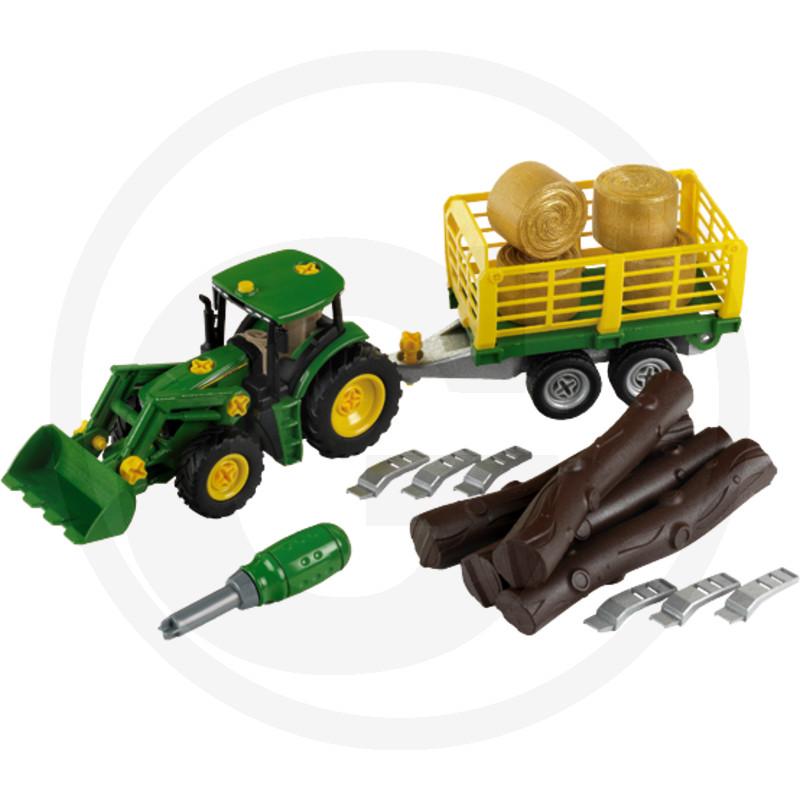 Klein Stavebnice  John Deere Traktor se dřevem a senem
