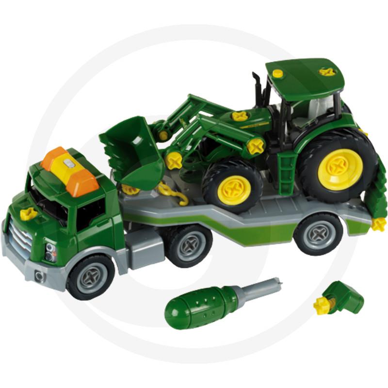 Klein Stavebnice  Přepravní vozidlo s John Deere traktorem