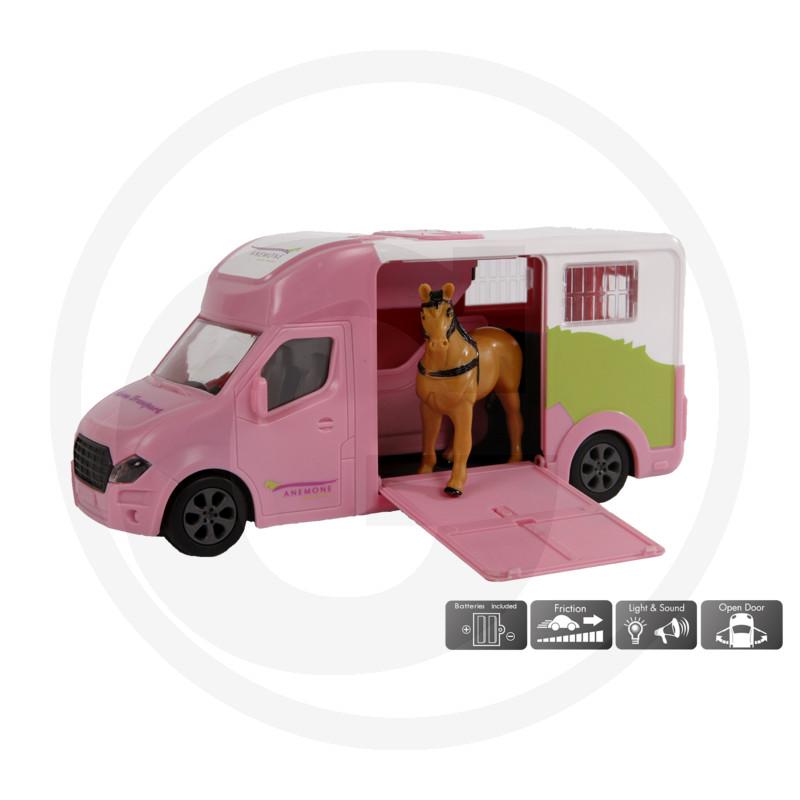 Kids Globe Anemonen Jezdecký vůz, růžový