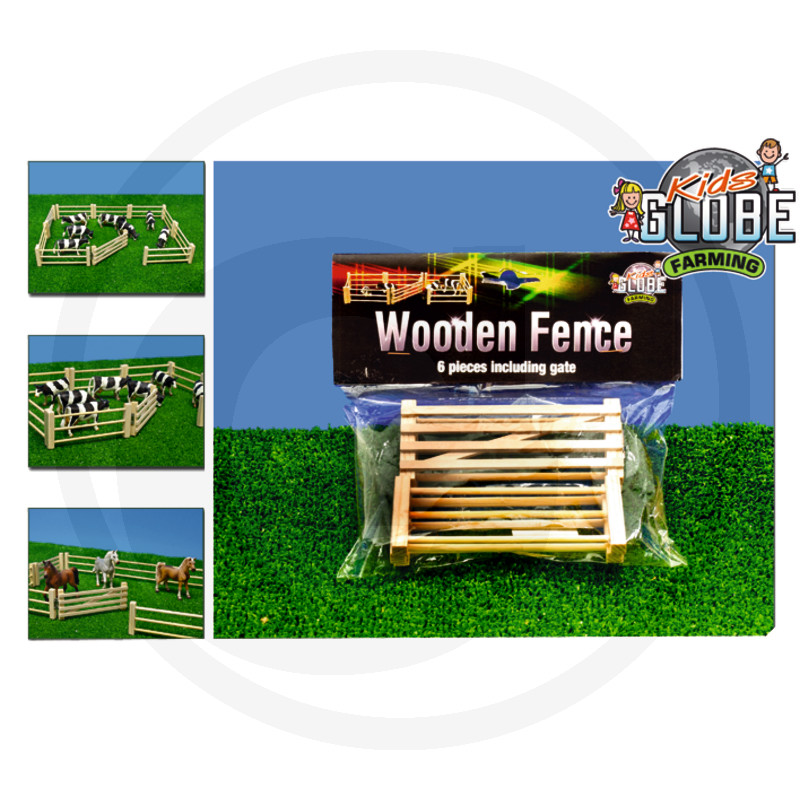 Kids Globe Dřevěná ohrada, 6-ti dílná