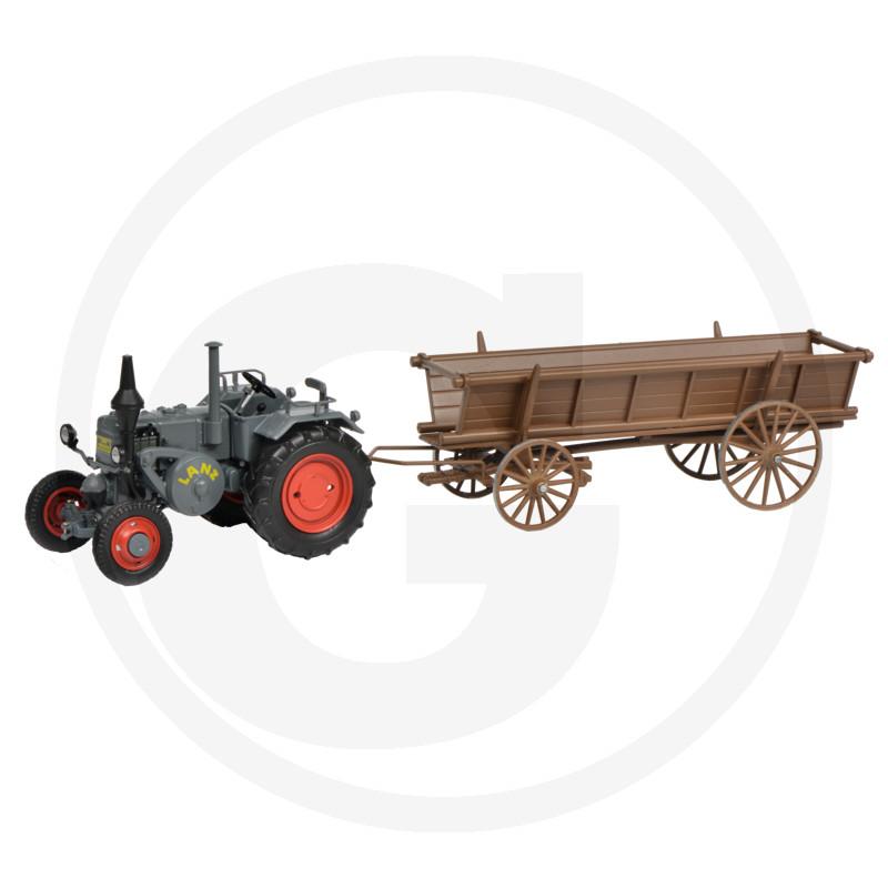 Traktor Schuco s vozíkem